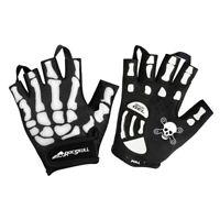 RocRide Skeleton Cycling Gloves Gel Padded Road Mountain BMX Half or Full Finger