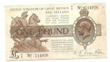 Great Britain 1 Pound 1919 in (aVF) Condition Banknote P-357