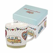 Queens by Churchill The CARAVAN TRAIL Festival MUG Gift Boxed 250ml - New