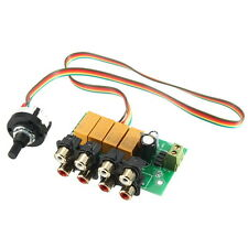 6-12V Four Choose One Audio Input Switch Selection Board
