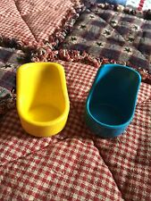 2 Vintage Kenner Tree Tots Tree House Yellow Rocking Chair and Blue Chair