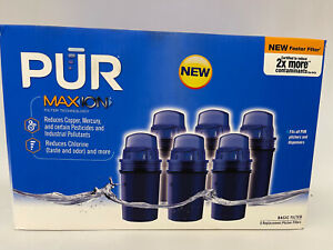 6-PUR MAX ION REPLACEMENT PITCHER FILTERS BRAND NEW