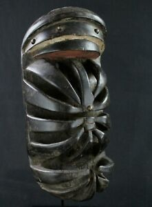 Art African Mask Mascara - Mask Glé Or Gre Beast Spider - 33 CMS