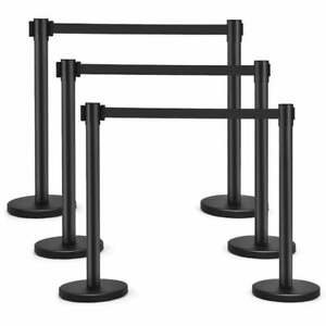 Queue barrier stanchion