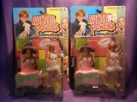 MCFARLANE AUSTIN POWERS FEMBOT FEATURE FILM ACTION FIGURES NEW! LOT OF 2 FEMBOTS