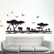 Wall Sticker African Safari Jungle Wild Animal Mural Decal Sticker Art Decor LAZ