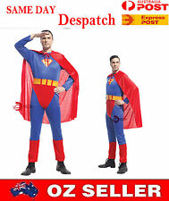 New Men Superman Super Hero Costume Mens Adult Fancy Dress Halloween COS07