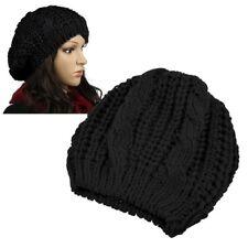 New Unisex Womens Mens Winter Warm Knit Beret Hat Beanie Crochet Ski Baggy Cap
