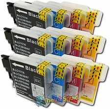 12 LC980 Ink Cartridges for Brother DCP-195C DCP 195 C