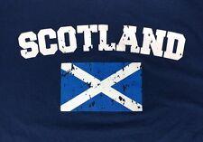Mens Augusta Scotland Navy Blue Henley Jersey T-Shirt - Size XL