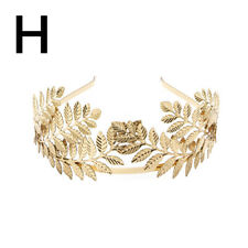 Women Headband Goddess Leaf Flower Hair Crown Head Piece Gold Band Bridal