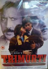 TRIMURTI - RARE EROS BOLLYWOOD DVD - Jackie Shroff, Anil Kapoor, Shahrukh Khan.