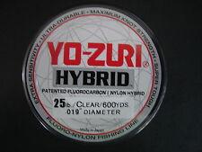 Yo-Zuri Hybrid Fluorocarbon 25 lb. 600yd Clear R776-CL Fishing Line 25lb. 600 yd