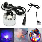12 LED Ultrasonic Mist Maker Light Fogger Water Fountain Pond Underwater Lamp