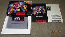 SNES Tetris 2 Super NES Nintendo 1994 Video Game Complete Box Instructions Book