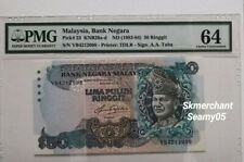 1983-84 Malaysia RM50 5th Series PMG64 Choice UNC