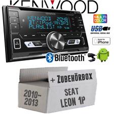 Kenwood Radio für Seat Leon 1P FL Autoradio Bluetooth USB Apple Android Set KFZ