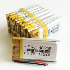 10pcs 3.7V 160mAh Lipo Rechargeable Battery for MP3 DVD PSP GPS bluetooth 401730