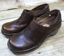 Ariat Women Size 7.5 Brown Leather Clogs Mules Comfort Shoes