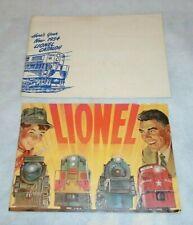 ORIGINAL LIONEL 1954 CONSUMER CATALOG with ORIGINAL MAILING ENVELOPE - EXC