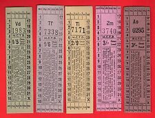 Manchester City Transport ~ 5 Cheap Travel Tickets - Off Peak: Child Adult 1960s