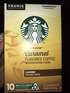 Starbucks Caramel Flavored Coffee Keurig K-Cups 10 Count