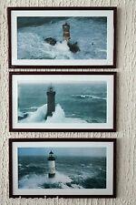 Cadre photo phare Bretagne triptyque décoration marine mer Lot 3 tableaux