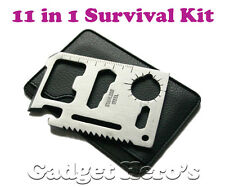 Gadget Hero's 11 in 1 Multi Function Survival Tool Kit, Useful Credit Card Style