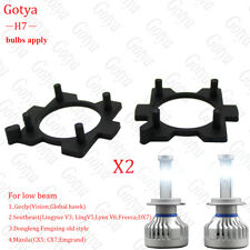 2PCS H7 LED Headlight Bulb Lamp Adapter Holder  For low beam Mazda CX5 CX7 Geely