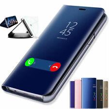 FUNDA CARCASA IPHONE 7 PLUS XR XS Max FLIP ESPEJO CON TAPA SOSTENIBLE STAND