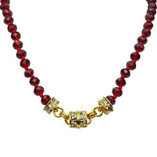 Kirks Folly Love Potion Beaded Magnetic Interchangeable Necklace (Goldtone/Red)