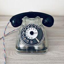 Telefono a disco Sip Face Standard F63 bigrigio Trasparente design Livio Saltini