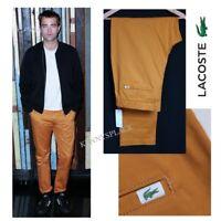 LACOSTE Chinos Ochre Orange RRP;£100 UK34-40 *BNWT* Slim Fit Stretch Cotton