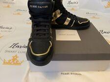 BNWB BALMAIN Black High Top Shoes Sneakers Boots Trainers UK 7.5/ 8 US EU 41