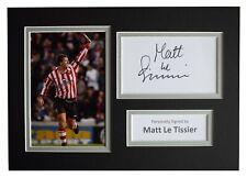 More details for matt le tissier signed autograph a4 photo display southampton sport aftal coa