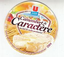 Etiquette de Fromage   Camembert de Caractère U    N°10