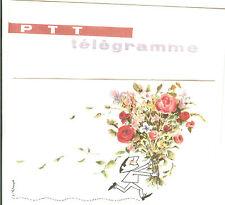 TELEGRAMME FRANCE NEUF AVEC ENVELOPPE THEMES FLEURS ANNEES 1960