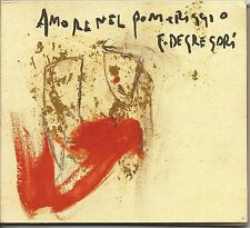 FRANCESCO DE GREGORI - Amore nel pomeriggio CD DIGIPACK 2001 NEAR MINT CONDITION