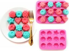 DIY Gâteau Cookie Muffin Bonbons Jelly Glace Moule Silicone Plaque Etoile Fleur