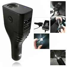 USB Car Charger - Power Bank - LED Torch - Hazard Light - Seat Belt Cutter