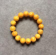 Bracelet 12,5 mm AMBRE Baltique.18,3 g. AMBER BRACELET BUTTERSCOTCH COLOR