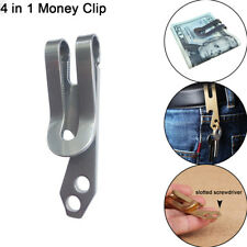 New Metal Money Clip Pocket Holder Wallet Bottle Opener Key Chain Multifunction