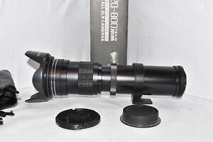 Canon EOS DSLR DIGITAL fit 420 800mm zoom lens 1200D 1300D 1000D 2000D 4000D +