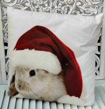 Mars & More Weihnachten Christmas Kissen mit Inlett Kaninchen 50 x 50 cm