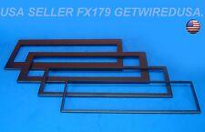 4-PACK RADIO TRIM RINGS ABS PLASTIC STEREO DASH INSTALLATION KIT BEZEL Universal