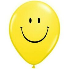 Yellow Smile Face Qualatex 16 Inch Latex Balloons