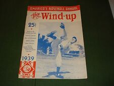 1939 BASEBALL ANNUAL MAGAZINE - THE WIND-UP, HIGHLIGHTS MAJOR AND MINOR LEAGUES