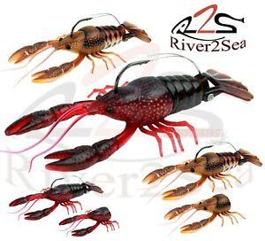 River2Sea Pike Perch Fishing Lures Clackin Crayfish 9cm 13cm Creature Crawfish