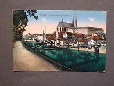 Ansichtskarte Görlitz / Zgorzelec, Neißepartie mit Altstadt, color um 1908