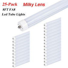25-Pack FA8 Single Pin 8FT 40W T12 T8 Replacement LED Tube Lights 6000K Frosted